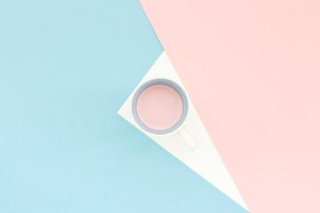 Light blue and pink minimal geometric background
