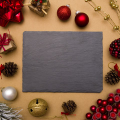 Holiday Background with Customizable Chalkboard
