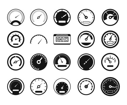 Dashboard icon set, simple style