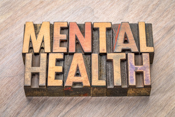mental health in letterpress wood type