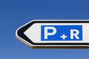 Park and ride car park road sign Fototapete