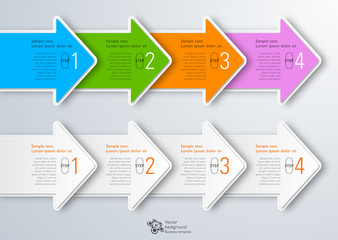 Infographics Vector Background 4-Step Arrows
