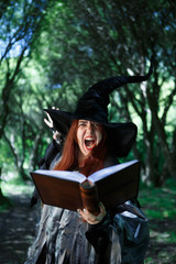 Image of young screaming witch