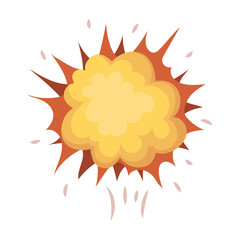Explosion, single icon in cartoon style.Explosion, vector symbol stock illustration web.