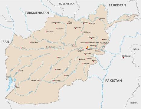 Islamic Republic of Afghanistan map