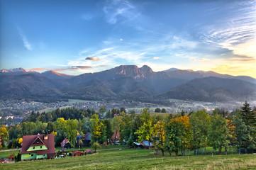 Zakopane - Tatra Mountains - Panorama with view on Giewont