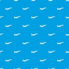 Airplane taking off pattern seamless blue