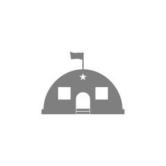 Barracks, military tent icon