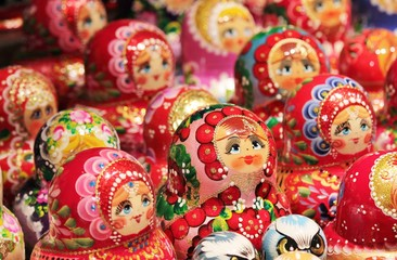 Russian Babushka doll at market
