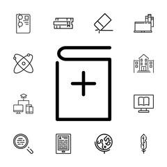 Add book vector icon