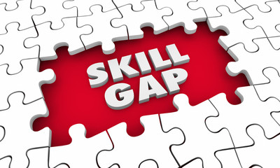 Skill Gap Knowledge Expertise Puzzle 3d Illustration