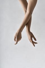 Closeup photo of female arms
