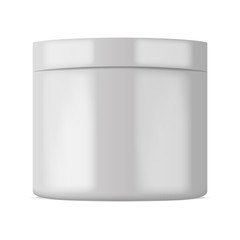 Plastic cosmetic container for cream or powder. Vector