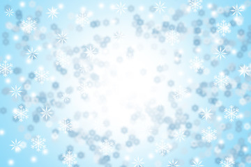 white snowflakes background