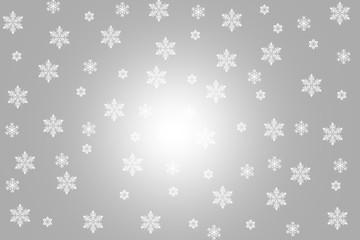 white snowflakes background
