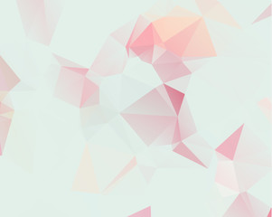 Pink Pattern. triangular template. Geometric sample. Repeating routine with triangle shapes