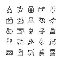 Wedding icon set.
