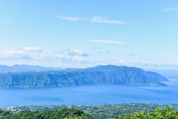 Beautiful View of Kinko Bay on a Sunny Day in Kagoshima Prefecture