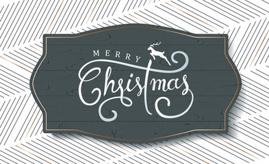 Merry christmas with calligraphic text.Vector illustration template.greeting cards.