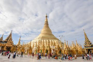 17 december 2016 yangon city myanmar shwedagon paya pagoda fomous place for buddhism people