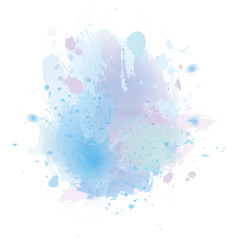 Vector watercolor splash texture background.