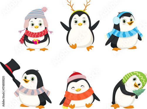Cute christmas penguin pictures