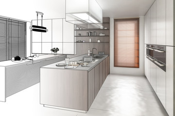 Contemporary Kitchen (drawing)
