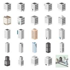 3D建物セット ビル・事務所・街並み