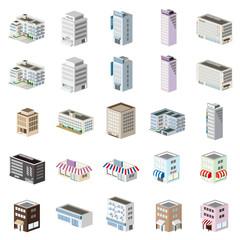 3D建物セット 施設・ビル・店舗