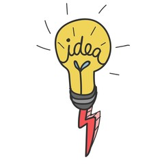 Doodle of lightbulb icon
