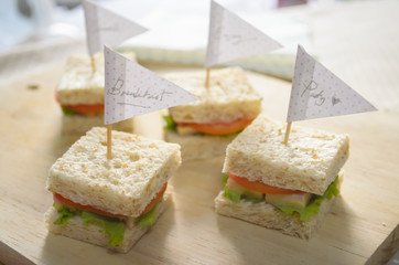 party sandwich in the morning