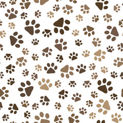 seamless pattern with dog footprints