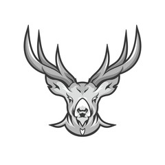 Deer head Logo icon vector