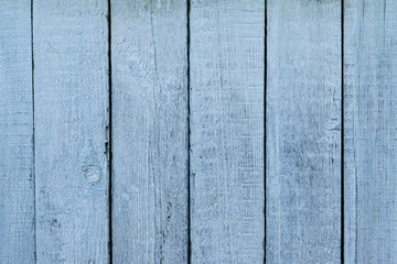 Winter background. Blue boards. Frosted table. New Year's frosty texture