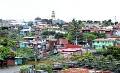 Quartier périphérique de San José, capitale du Costa Rica