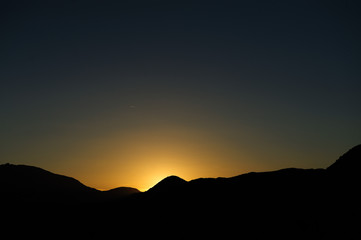 Sunrise over Joshua Tree National Park
