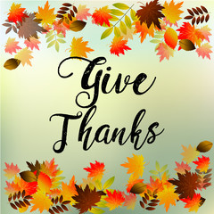 Give Thanks, Typography and Background design