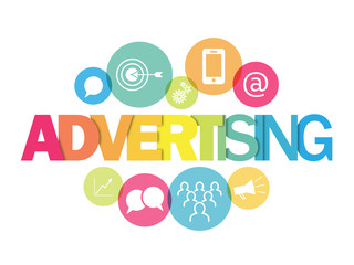 ONLINE ADVERTISING Icons Banner