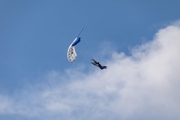 Foto op Aluminium Luchtsport Skydiver in the sky
