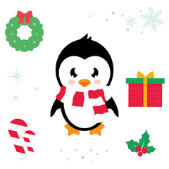 cartoon cute penguin ector cartoon illustration