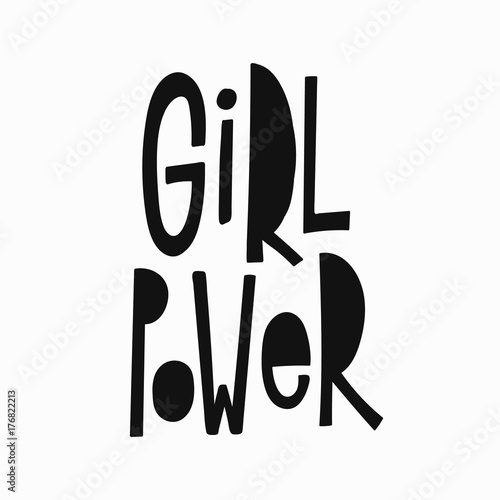 Girl Power T Shirt Quote Feminist Lettering Calligraphy Inspiration Graphic Design Typography Element
