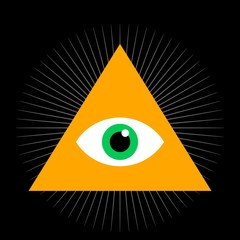 Seeing eye. All seeing eye inside triangle pyramid. vector illustration. Masonic symbol. Vector illustration