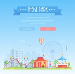 Theme park - modern flat design style vector illustration