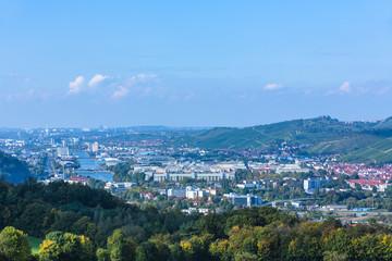 Neckar mit Suttgart, Wangen und Untertürkheim