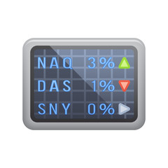 Stock Market - Novo Icons. A professional, pixel-aligned icon designed on a 32 x 32 pixel grid and redesigned on a 16 x 16 pixel grid for very small sizes.