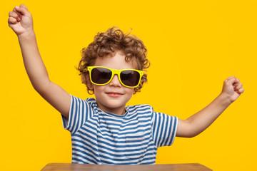 Cute boy in sunglasses