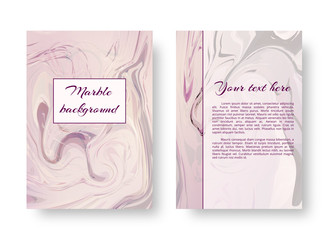 A gentle template of a postcard with a pink watercolor marble pattern for the celebration of St. Valentine's Day, Mother's Day.