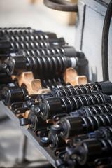 Pile of motorcycle shock absorbers