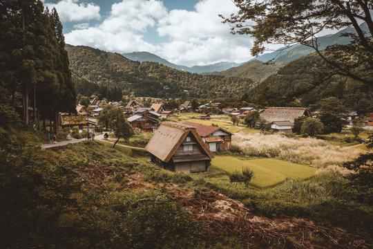 Landscape of exotic rural village