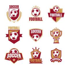 Set Of Soccer Logo Template Vector